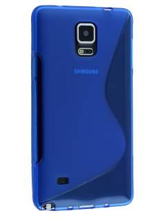 Wave Case for Samsung Galaxy Note 4 - Frosted Blue/Blue Soft Cover