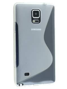 Wave Case for Samsung Galaxy Note 4 - Frosted Clear/Clear Soft Cover