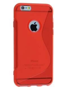 Wave Case for iPhone 6s Plus/6 Plus - Frosted Red/Red Soft Cover