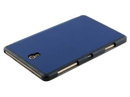 Premium Slim Synthetic Leather Flip Case with Stand for Samsung Galaxy Tab S 8.4 - Dark Blue