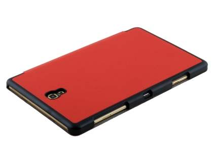Premium Slim Synthetic Leather Flip Case with Stand for Samsung Galaxy Tab S 8.4 - Red