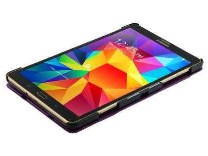 Premium Slim Synthetic Leather Flip Case with Stand for Samsung Galaxy Tab S 8.4 - Dark Purple