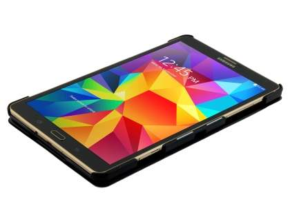 Premium Slim Synthetic Leather Flip Case with Stand for Samsung Galaxy Tab S 8.4 - Classic Black