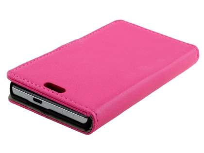 Huawei Ascend G6 4G Synthetic Leather Wallet Case with Stand - Pink