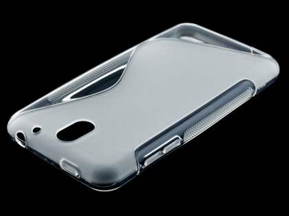 HTC Desire 610 Wave Case - Frosted Clear/Clear