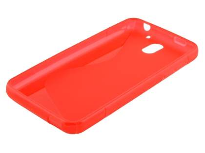 HTC Desire 610 Wave Case - Frosted Red/Red