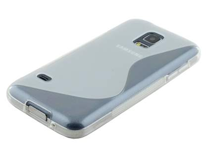 Wave Case for Samsung Galaxy S5 mini - Frosted Clear/Clear
