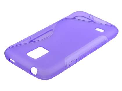 Wave Case for Samsung Galaxy S5 mini - Frosted Purple/Purple