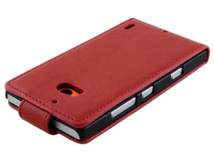 Nokia Lumia 930 Synthetic Leather Flip Case - Red