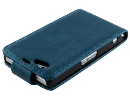 Sony Xperia Z1 Compact Synthetic Leather Flip Case - Teal Blue
