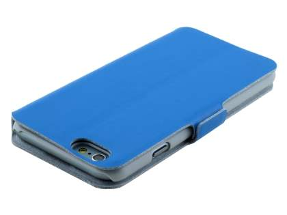 iPhone 6s/6 4.7 inches Slim Genuine Leather Portfolio Case with Stand - Sky Blue