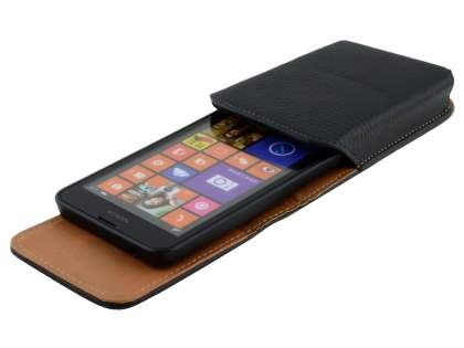 Textured Synthetic Leather Vertical Belt Pouch for Nokia Lumia 635/636/630