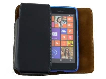 Extra-tough Genuine Leather ShineColours belt pouch (Bumper Case Compatible) for Nokia Lumia 635/636/630