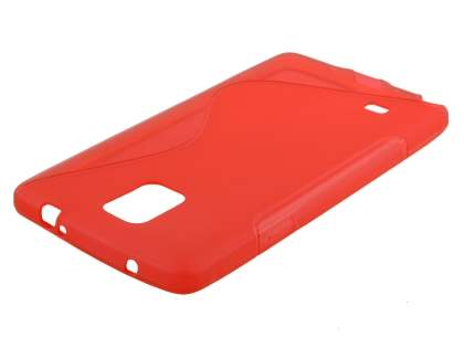 Wave Case for Samsung Galaxy Note 4 - Frosted Red/Red