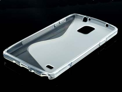 Wave Case for Samsung Galaxy Note 4 - Frosted Clear/Clear