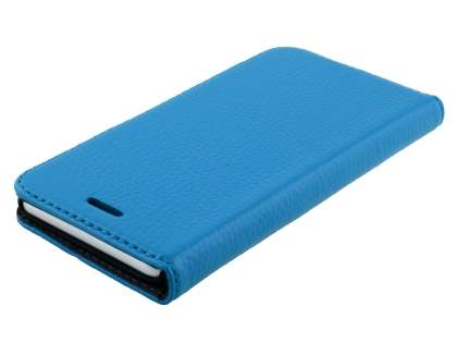 Slim iPhone 6s/6 4.7 inches Genuine Textured Leather Wallet Case with Stand - Blue