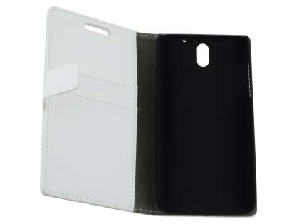 Synthetic Leather Wallet Case with Stand for HTC Desire 610 - Pearl White