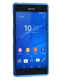 Wave Case for Sony Xperia Z3 - Frosted Blue/Blue