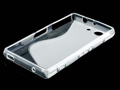 Sony Xperia Z3 Compact Wave Case - Frosted Clear/Clear