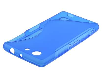 Sony Xperia Z3 Compact Wave Case - Frosted Blue/Blue