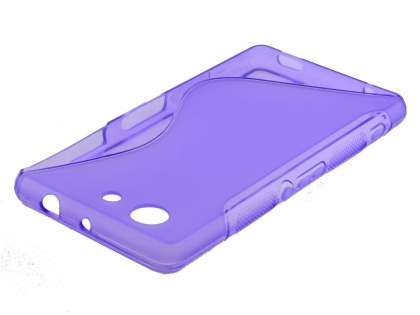 Wave Case for Sony Xperia Z3 Compact - Frosted Purple/Purple Soft Cover