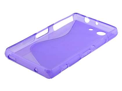 Sony Xperia Z3 Compact Wave Case - Frosted Purple/Purple