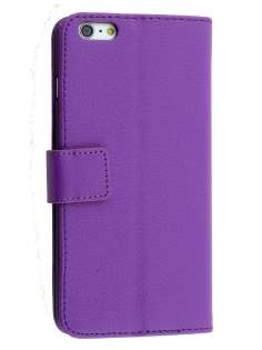 Apple iPhone 6s/6 4.7 inches Slim Synthetic Leather Wallet Case with Stand - Purple