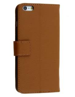 Synthetic Leather Wallet Case with Stand for iPhone 6s/6 - Brown Leather Wallet Case