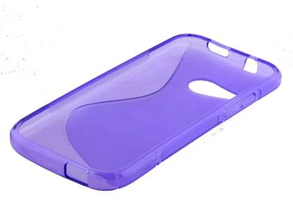 HTC One mini 2 Wave Case - Frosted Purple/Purple