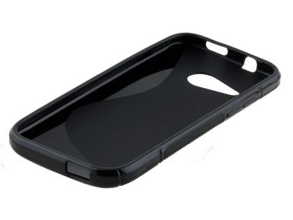 HTC One mini 2 Wave Case - Frosted Black/Black