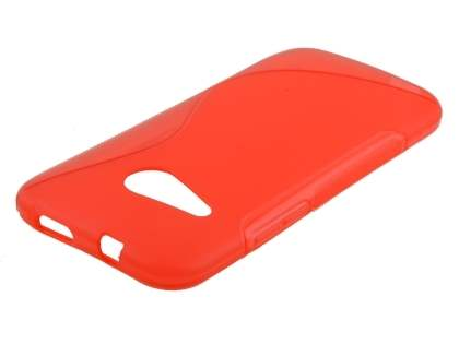 HTC One mini 2 Wave Case - Frosted Red/Red