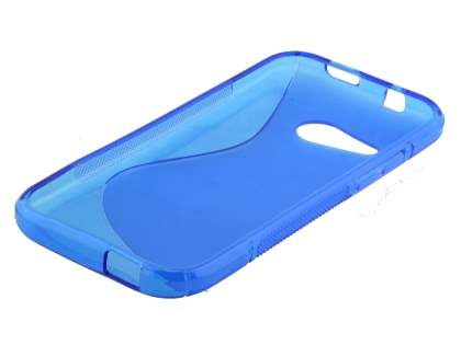 HTC One mini 2 Wave Case - Frosted Blue/Blue
