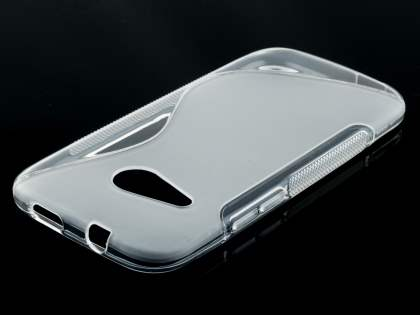 Wave Case for HTC One mini 2 - Frosted Clear/Clear