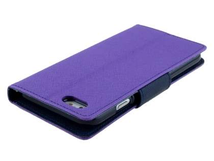 Mercury Colour Fancy Diary Case with Stand for iPhone 6s/6 4.7 inches - Purple/Navy