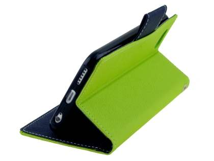 Mercury Colour Fancy Diary Case with Stand for iPhone 6s/6 4.7 inches - Lime/Navy