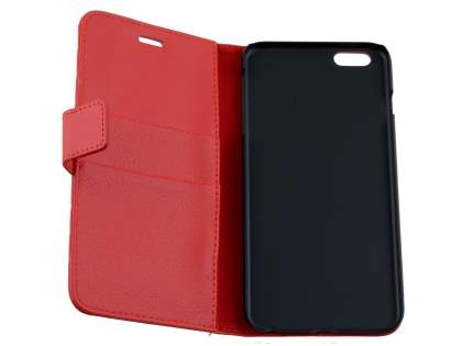 Apple iPhone 6s/6 4.7 inches Slim Synthetic Leather Wallet Case with Stand - Red
