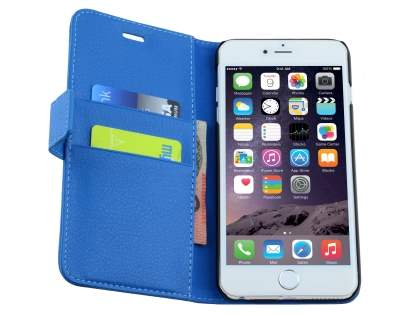 Synthetic Leather Wallet Case with Stand for iPhone 6s/6 - Blue