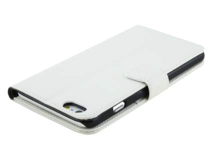 Synthetic Leather Wallet Case with Stand for iPhone 6s Plus/6 Plus - Pearl White