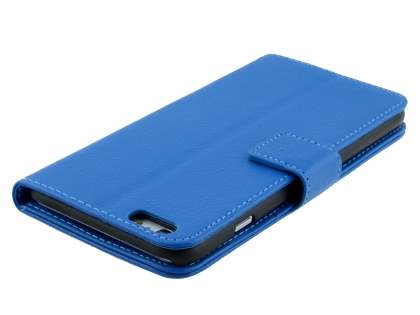 Synthetic Leather Wallet Case with Stand for iPhone 6s Plus/6 Plus - Blue