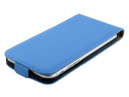 Slim Genuine Leather Flip Case for iPhone 6s/6 - Sky Blue