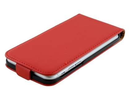 Apple iPhone 6s/6 4.7 inches Slim Genuine Leather Flip Case - Red