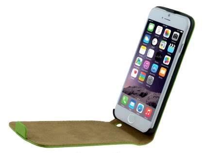 Apple iPhone 6s/6 4.7 inches Slim Genuine Leather Flip Case - Lime