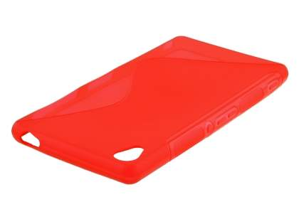 Sony Xperia Z3 Wave Case - Frosted Red/Red