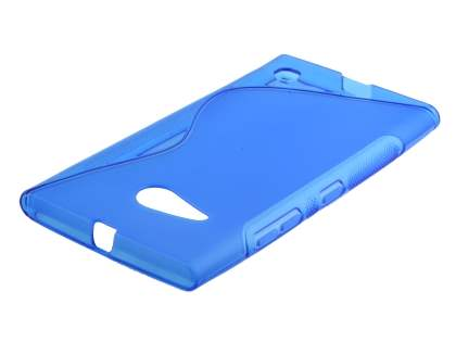 Wave Case for Nokia Lumia 735 - Frosted Blue/Blue Soft Cover