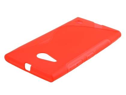 Wave Case for Nokia Lumia 735 - Frosted Red/Red Soft Cover