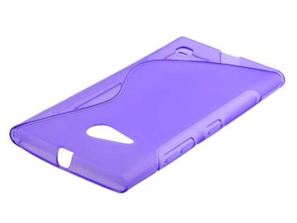 Wave Case for Nokia Lumia 735 - Frosted Purple/Purple Soft Cover