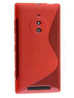 Nokia Lumia 830 Wave Case - Frosted Red/Red