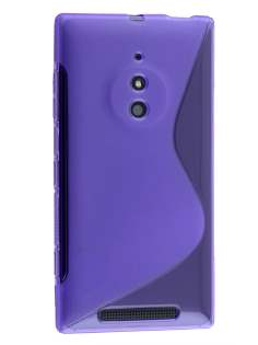 Wave Case for Nokia Lumia 830 - Frosted Purple/Purple Soft Cover