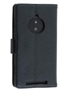 Synthetic Leather Wallet Case with Stand for Nokia Lumia 830 - Classic Black Leather Wallet Case