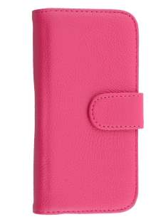 HTC One mini 2 Synthetic Leather Wallet Case with Stand - Pink